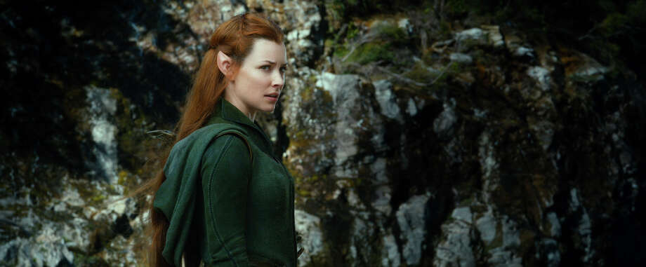 "This film image released by Warner Bros. Pictures shows Evangeline Lilly in a scene from ""The Hobbit: The Desolation of Smaug."" Photo: AP"