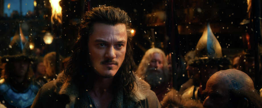 "This film image released by Warner Bros. Pictures shows Luke Evans as Bard in a scene from ""The Hobbit: The Desolation of Smaug."" Photo: AP"