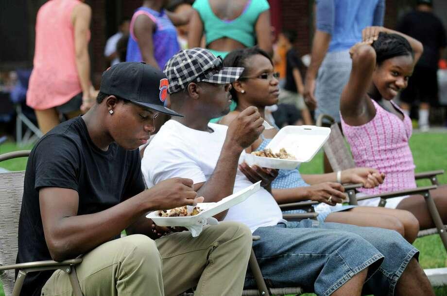 The Caribbean Jerk Festival is held on the CityCenter Green in Danbury, Conn., Sunday, Sept. 1, 2013. Photo: Carol Kaliff / The News-Times