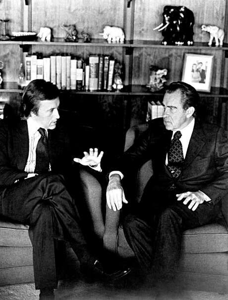 "David Frost asked about Richard Nixon's abuses of power, prompting this answer: ""Well, when the president does it, that means that it is not illegal."" Photo: Associated Press File Photo / AP"