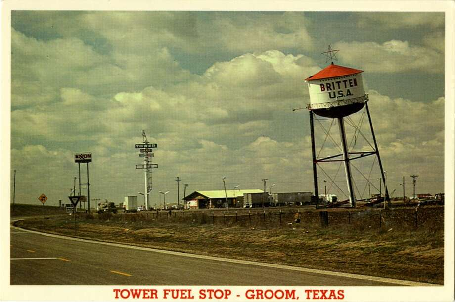 CIRCA 1900s:  Postcard view of the Tower Fuel Stop showing its leaning tower and neon sign.  (Photo by Lake County Museum/Getty Images) Photo: Curt Teich Postcard Archives, Getty Images
