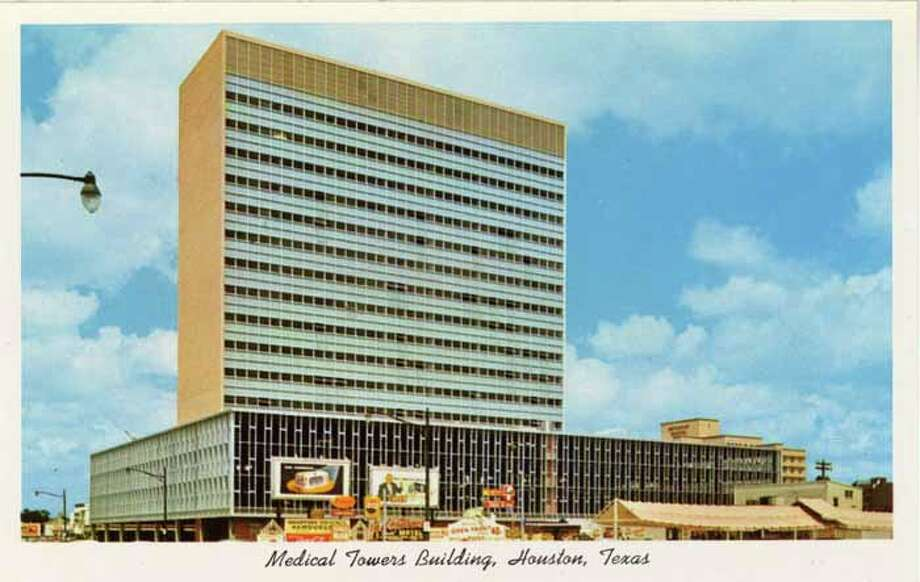 HOUSTON - 1956:  Vintage postcard showing a view of the Medical Towers Buildin in Houston. (Photo by Lake County Museum/Getty Images) Photo: Curt Teich Postcard Archives, Getty Images / Archive Photos