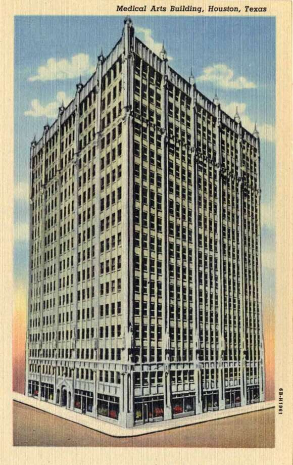 HOUSTON - 1946:  Vintage postcard showing a tall skyscraper in Houston. (Photo by Lake County Museum/Getty Images) Photo: Getty Images