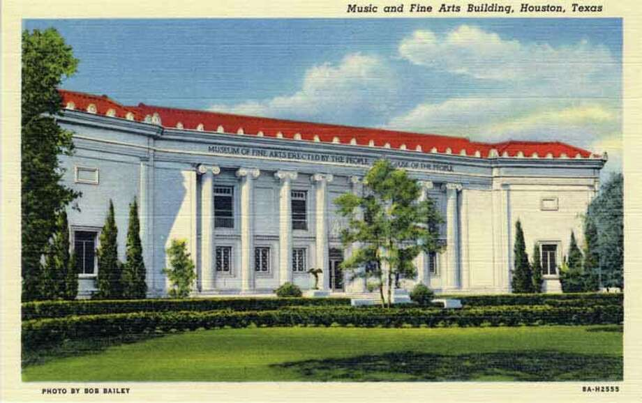 HOUSTON - 1938:  Vintage postcard showing the Rice University Music and Fine Arts Building. (Photo by Lake County Museum/Getty Images) Photo: Curt Teich Postcard Archives, Getty Images / Archive Photos