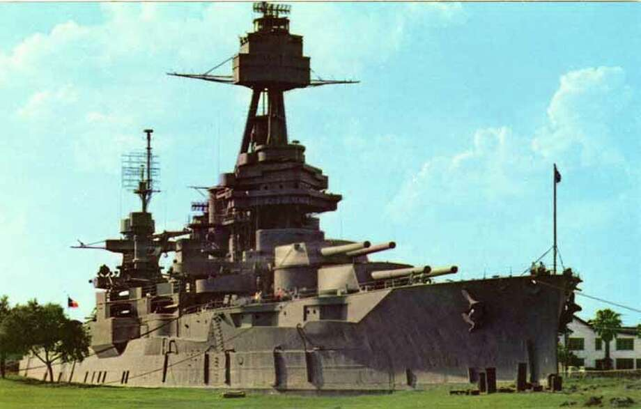 HOUSTON - 1958:  Vintage postcard showing the Battleship Texas. (Photo by Lake County Museum/Getty Images) Photo: Curt Teich Postcard Archives, Getty Images / Archive Photos