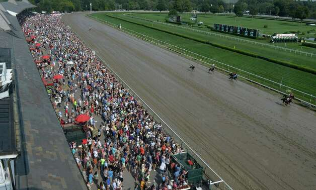 There was a large crowd in attendance Sept. 1, 2013,  at the Saratoga Race Course in Saratoga Springs, N.Y.     (Skip Dickstein/Times Union) Photo: SKIP DICKSTEIN