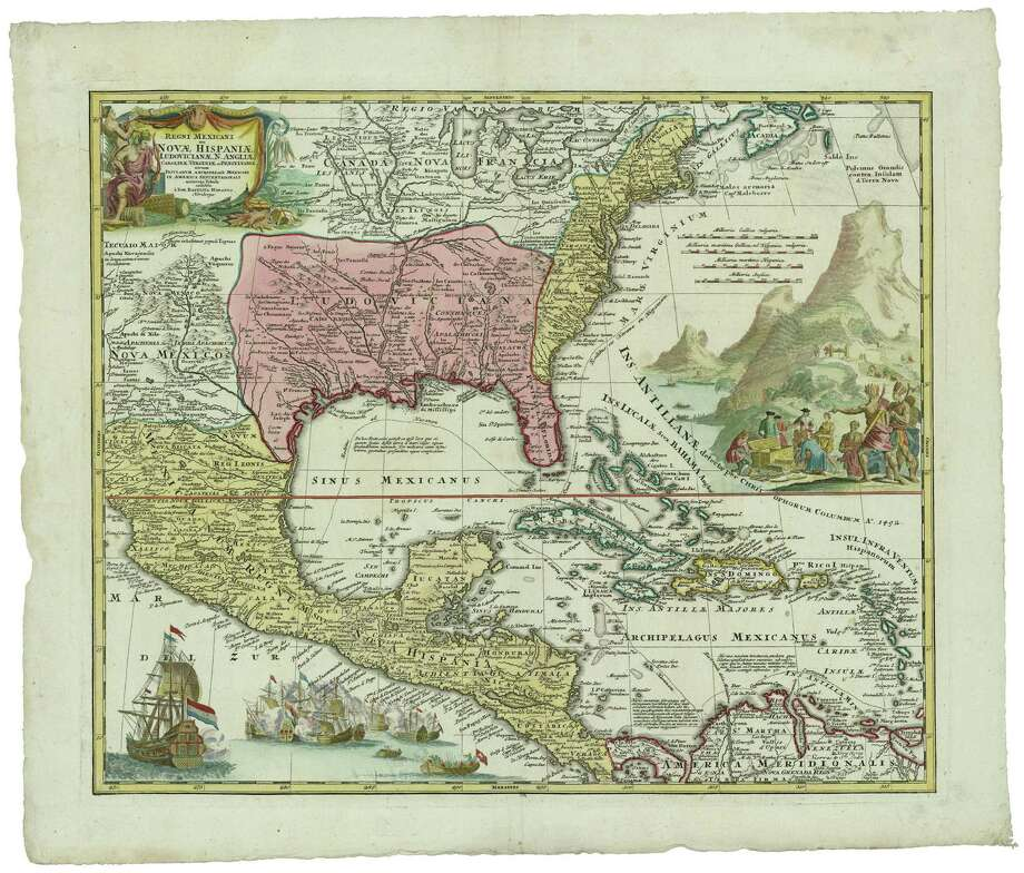 This map, first issued in 1703, illustrates how imperial powers of the day coveted control of modern-day Texas. Photo: Courtesy Photos