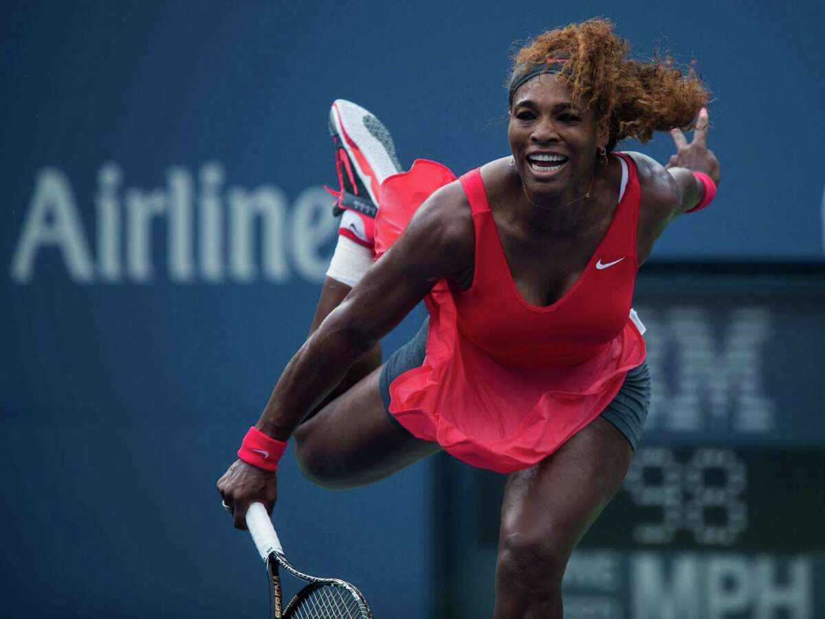Serena Williams of the U.S. returns to Sloane Stephens of the U.S. during their fourth round women's singles match at the U.S. Open tennis tournament in New York, Sept. 1, 2013. Williams defeated Stephens 6-4, 6-1. (Damon Winter/The New York Times) ORG XMIT: XNYT65