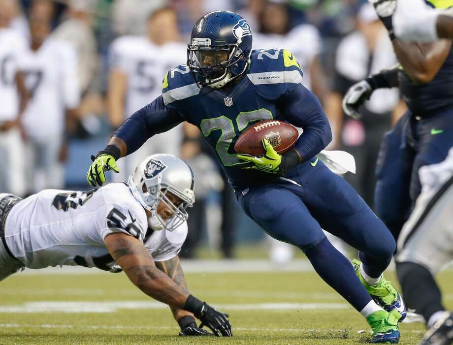 #22 | Robert Turbin, running back  Age: 23 | 5-foot-10, 222 pounds | College: Utah State Second year in NFL | Second year with Seahawks  As a rookie, Turbin was surprisingly impressive as Marshawn Lynch's backup in 2012, tallying up 354 rushing yards on 80 carries and 181 more yards on 19 receptions. Yet with rookie Christine Michael's productive preseason, it was iffy whether Turbin would make the team for 2013. Now that he has, he'll provide some much-appreciated depth at running back. Photo: Otto Greule Jr, Getty Images