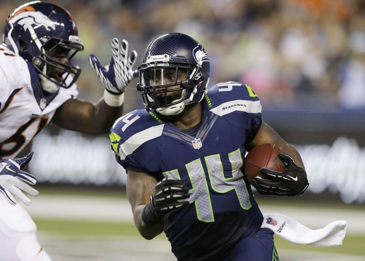 Seahawks fullback Spencer Ware in action during a preseason game against the Denver Broncos.