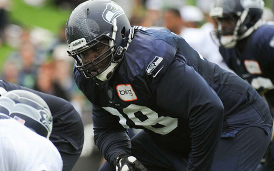 #78 | Alvin Bailey, offensive tackleAge: 22 | 6-foot-3, 320 pounds | College: Arkansas (undrafted) NFL rookie | First year with SeahawksThe NFL Draft passed him by in April but the Seahawks quickly signed Bailey as a rookie free agent, hoping he could provide depth on the offensive line. Indeed, Bailey performed well through the offseason and preseason, and has earned a spot on the roster behind starting left tackle Russell Okung on the depth chart. Photo: Rod Mar, Seahawks.com / ROD MAR