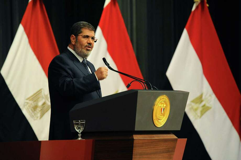 Egypt's military ousted President Mohammed Morsi in July. He's accused by the country's top prosecutor of inciting the killing of protesters outside his palace while in office. Photo: Egyptian Presidency / Associated Press
