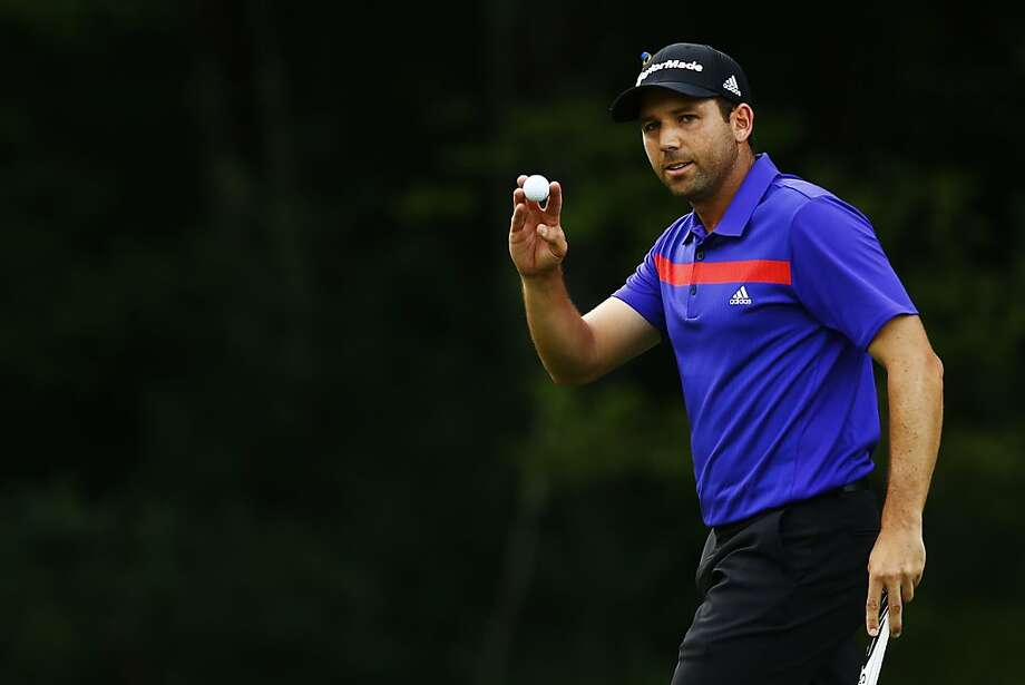 Sergio Garcia put on a show with seven third-round birdies as he built a two-shot lead in the Deutsche Bank Championship. Photo: Jared Wickerham, Getty Images