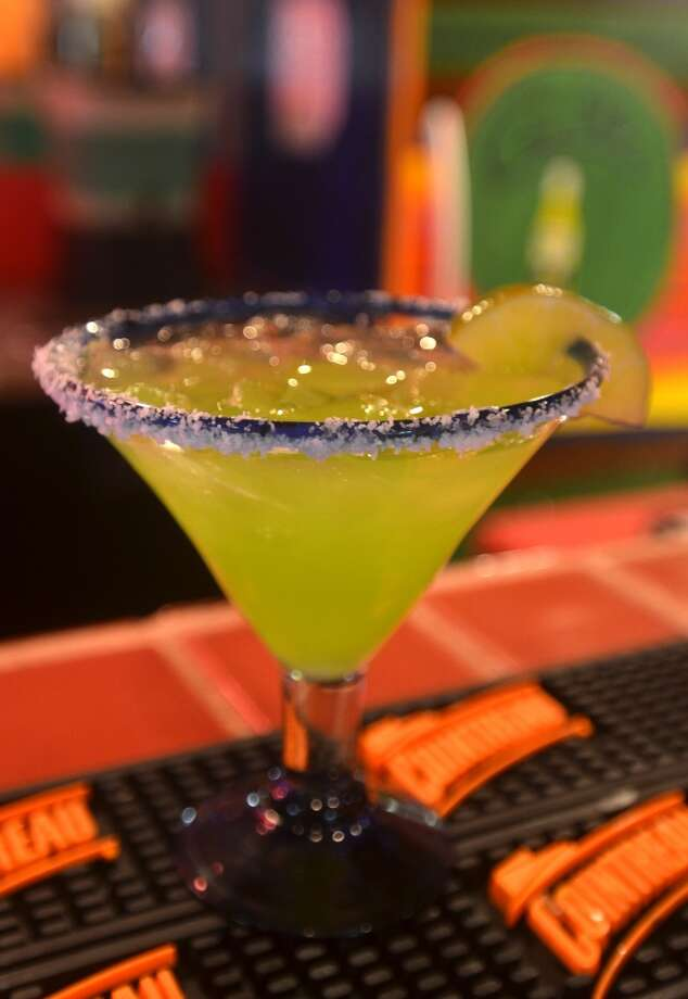 Casa Ole's Green Iguana, made with Cabo Wabo Blanco, Midori melon and lime mix, for $6.99. Beth Rankin/cat5 Photo: Cat5