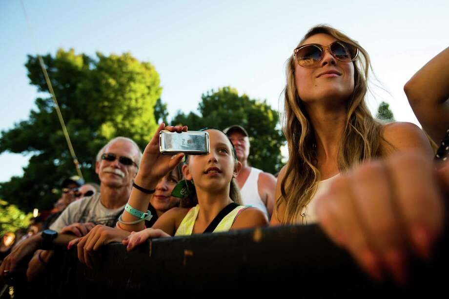 Onlookers enjoy Vintage Trouble's performance on the second day of the annual Bumbershoot arts and music festival Sunday, September 1, 2013, at Seattle Center in Seattle. The festival continues Monday. Photo: JORDAN STEAD, SEATTLEPI.COM / SEATTLEPI.COM