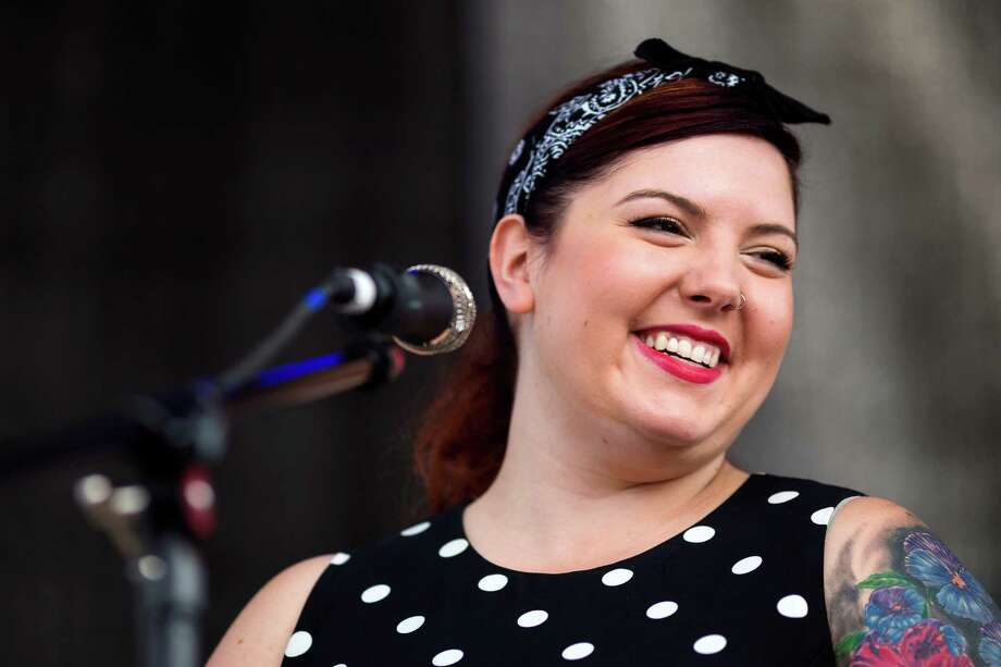 Mary Lambert performs on the second day of the annual Bumbershoot arts and music festival Sunday, September 1, 2013, at Seattle Center in Seattle. The festival continues Monday. Photo: JORDAN STEAD, SEATTLEPI.COM / SEATTLEPI.COM