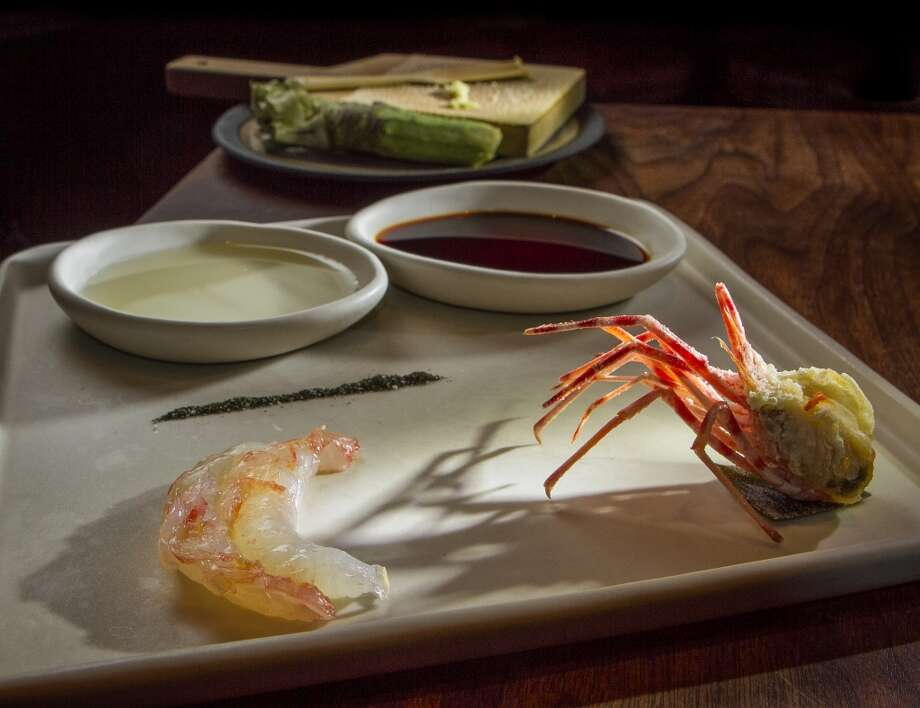 The Live Spot Prawn Sashimi at Michael Mina in San Francisco. Photo: John Storey, Special To The Chronicle