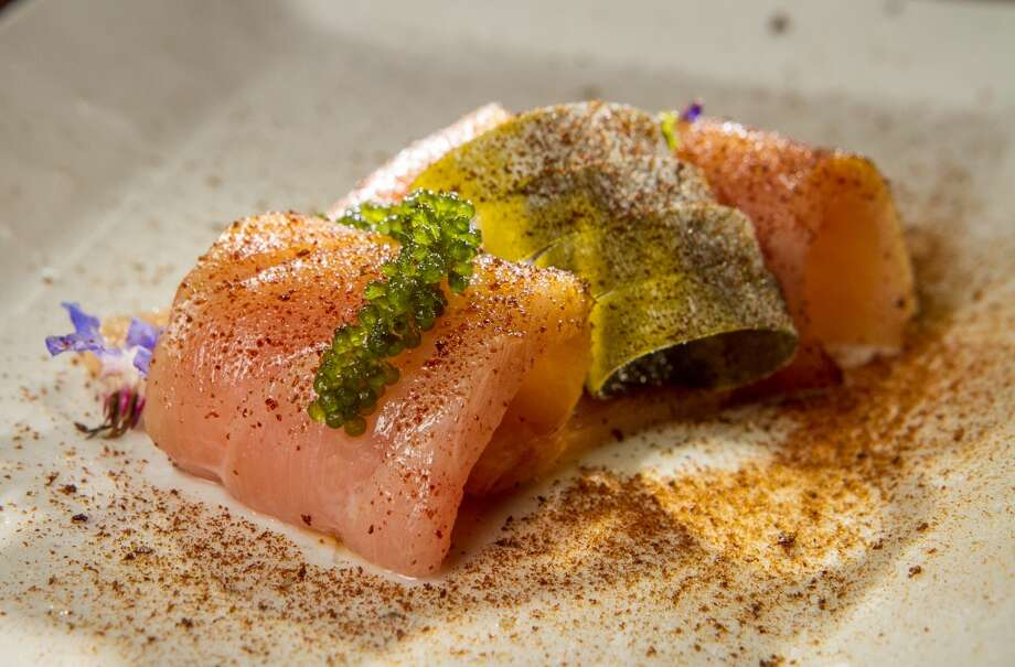 The Bluefin Toro Sashimi at Michael Mina in San Francisco. Photo: John Storey, Special To The Chronicle