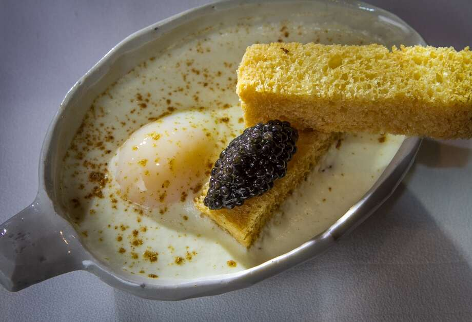 The Osen Tamago with Osetra Caviar from the tasting menu at Michael Mina in San Francisco. Photo: John Storey, Special To The Chronicle