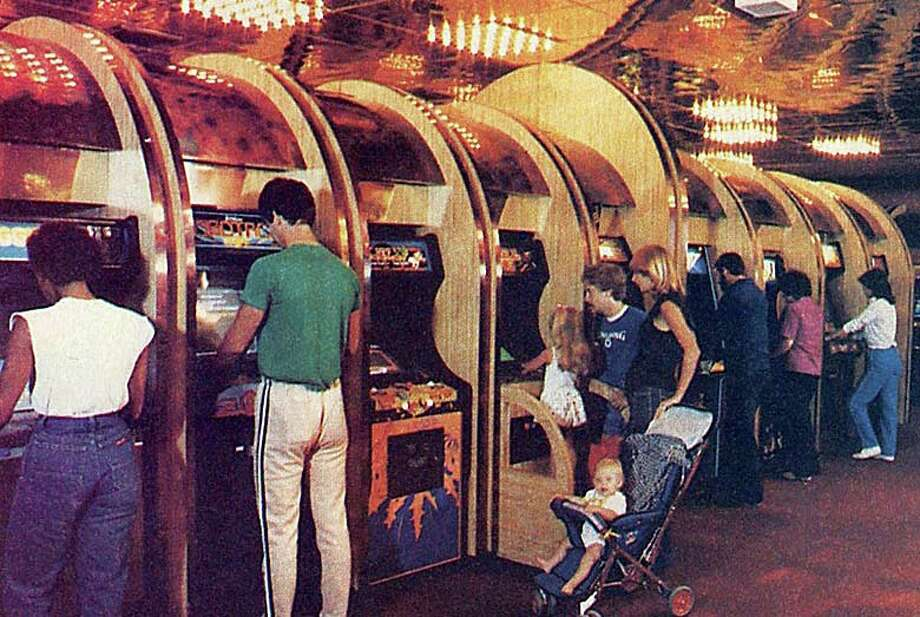 Arnie's Place was a games emporium opened on Post Road East (now Balducci's) by the famously controversial Arnoild Kaye in 1982. This photo of his glitzy arcade appeared  in the November 1984 issue of Electronic Games magazine. Photo: Contributed Photo / Westport News contributed