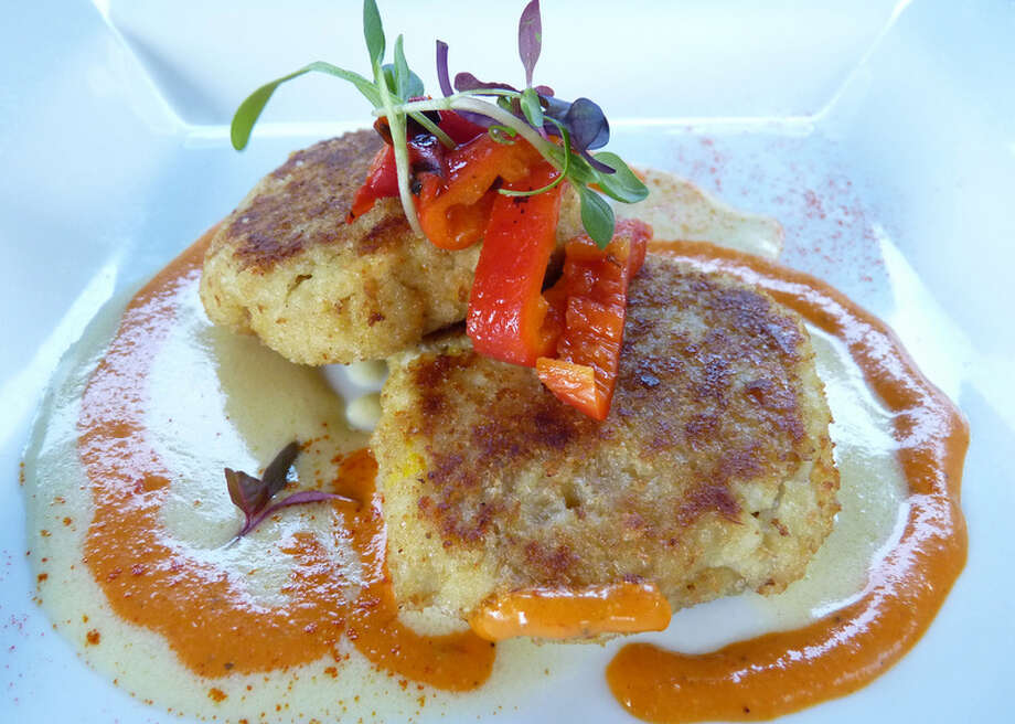 Pretzel Crab Cakes as served at Pesca World Seafood Restaurant. Photo: Courtesy Photo, Pesca World Seafood Restaurant