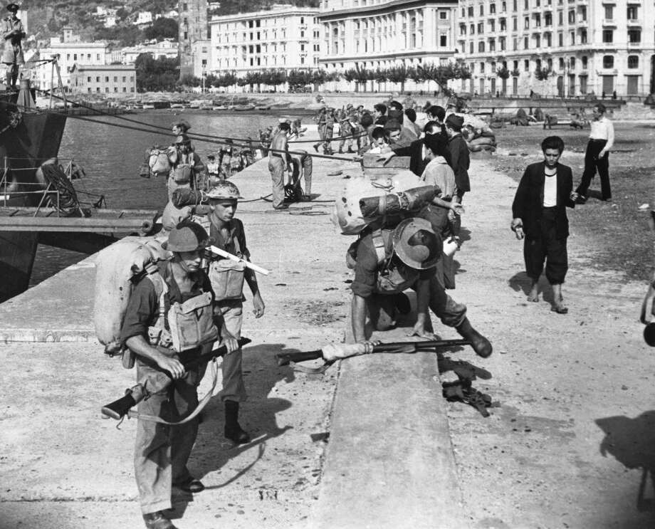 After some extremely bitter fighting over several days, the capture of the port of Salerno by the Fifth Army was announced in the Allied communique of September 11th. Photo: Manchester Daily Express, Getty Images / SSPL