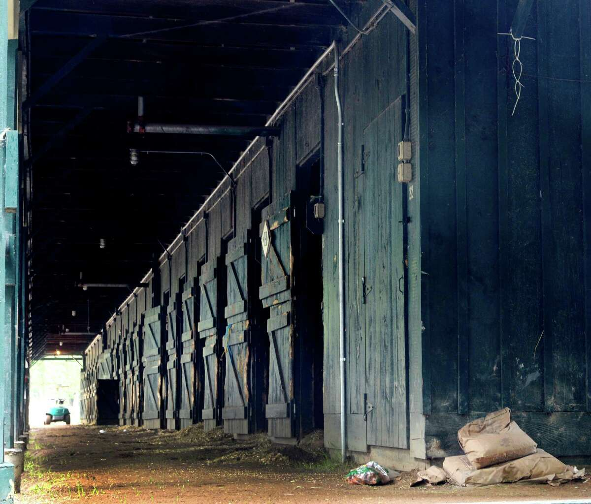 Horses shipped to Belmont Park from this barn early this morning as the 150th meeting comes to a close Sept. 2, 2013, at the Saratoga Race Course in Saratoga Springs, N.Y. (Skip Dickstein/Times Union)