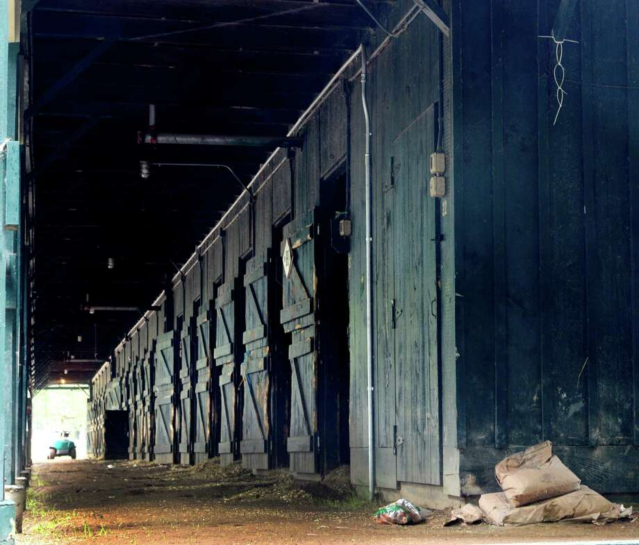 Horses shipped to Belmont Park from this barn early this morning as the 150th meeting comes to a close Sept. 2, 2013,  at the Saratoga Race Course in Saratoga Springs, N.Y.  (Skip Dickstein/Times Union) Photo: SKIP DICKSTEIN