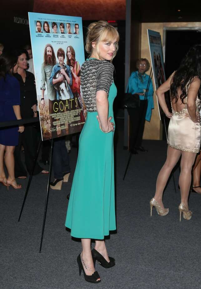 """Actress Dakota Johnson attends the """"Goats"""" premiere at Landmark Nuart Theatre on August 8, 2012 in Los Angeles, California.  (Photo by Paul Archuleta/FilmMagic) Photo: Paul Archuleta, FilmMagic"""