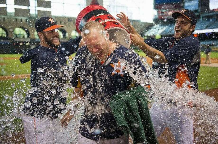 Sept. 1: Astros 2, Mariners 0  Pitcher Brett Oberholtzer's complete game shutout gave Houston one win in the four-game set against Seattle.  Record: 45-91. Photo: Smiley N. Pool, Houston Chronicle
