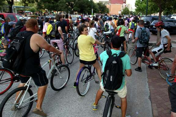 The Critical Mass bike ride starts around 7 p.m. on the last Friday of the month at downtown's Market Square Park.