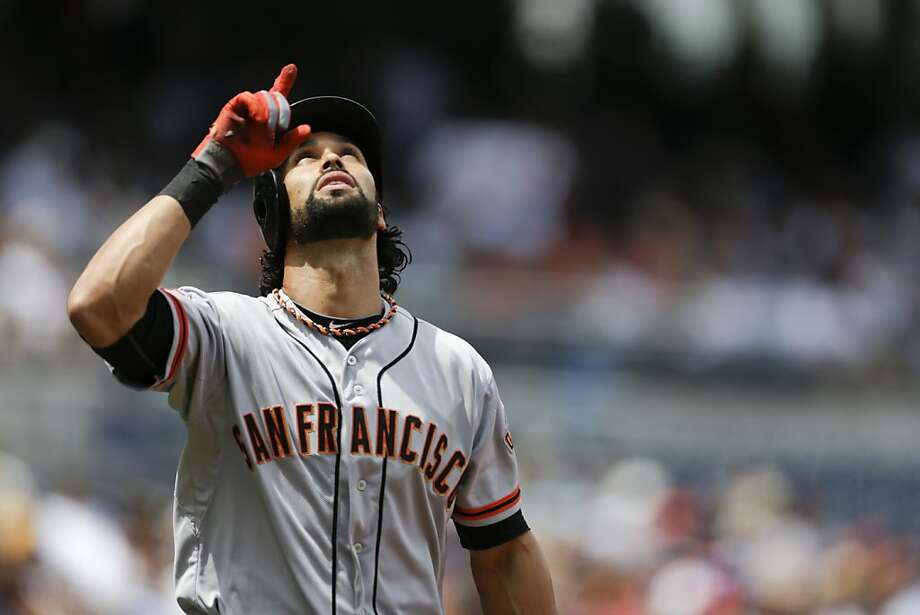 Angel Pagan, in his third game since returning from the disabled list, extended his hitting streak to eight games. Photo: Gregory Bull, Associated Press