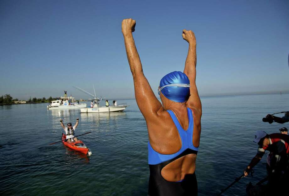Swimmer Diana Nyad Photo: Ramon Espinosa