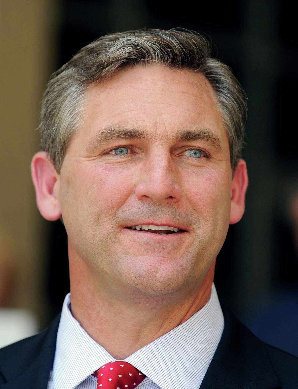 Texas Republican primary candidate for the U.S. Senate Craig James speaks at a press conference Thursday, May 24, 2012, in Houston. Also vying for the party's nomination are Lt. Gov. David Dewhurst, ex-Dallas Mayor Tom Leppert and Ted Cruz. (AP Photo/Pat Sullivan)