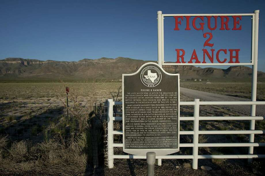 Base for Amazon.com founder Jeff Bezos is the Figure 2 Ranch on Texas 54. Bezos owns 300,000 acres in Culberson County and 100,000 in neighboring Hudspeth County. Photo: Photos By James Nielsen / Houston Chronicle