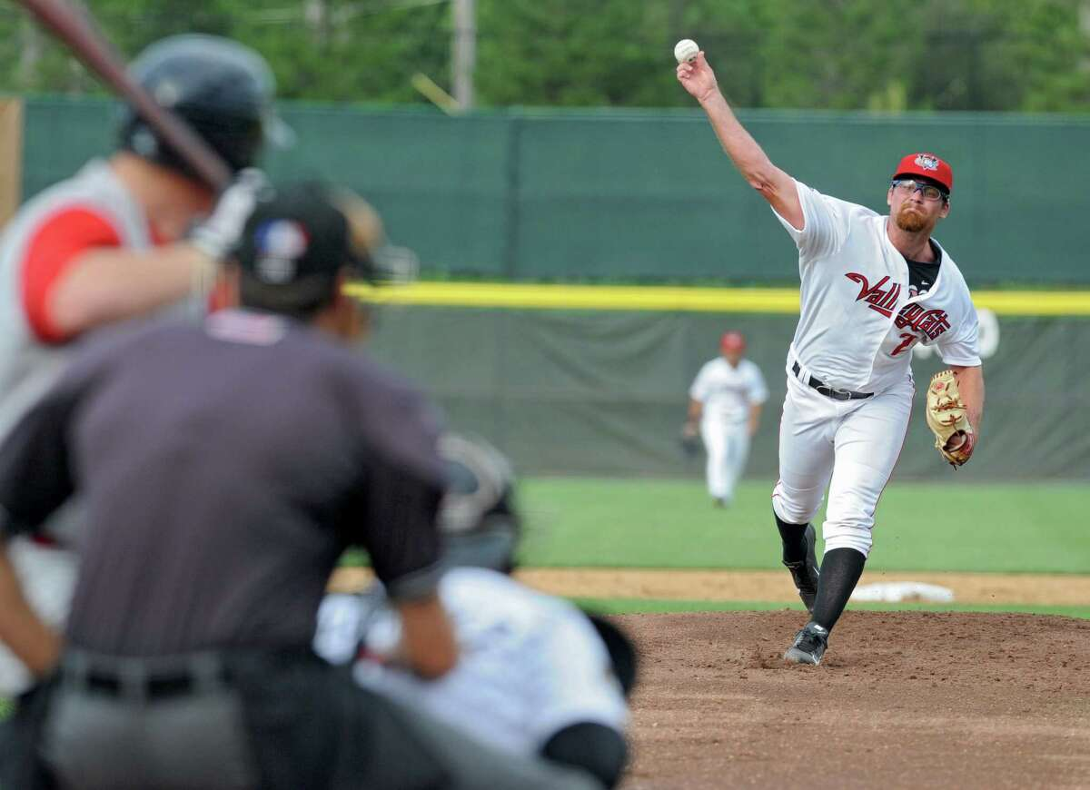 Tri-City ValleyCats pitcher Kyle Westwood throws the ball during a baseball game against the Brooklyn Cyclones at Joe Bruno Stadium on Monday, Sept. 2, 2013 in Troy, N.Y. (Lori Van Buren / Times Union)