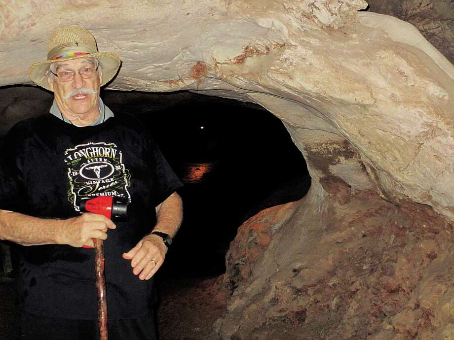 Al Gerow, the oldest paid Texas state park tour guide working today, was a geologist and engineer in the oil business. Photo: Terry Scott Bertling, San Antonio Express-News