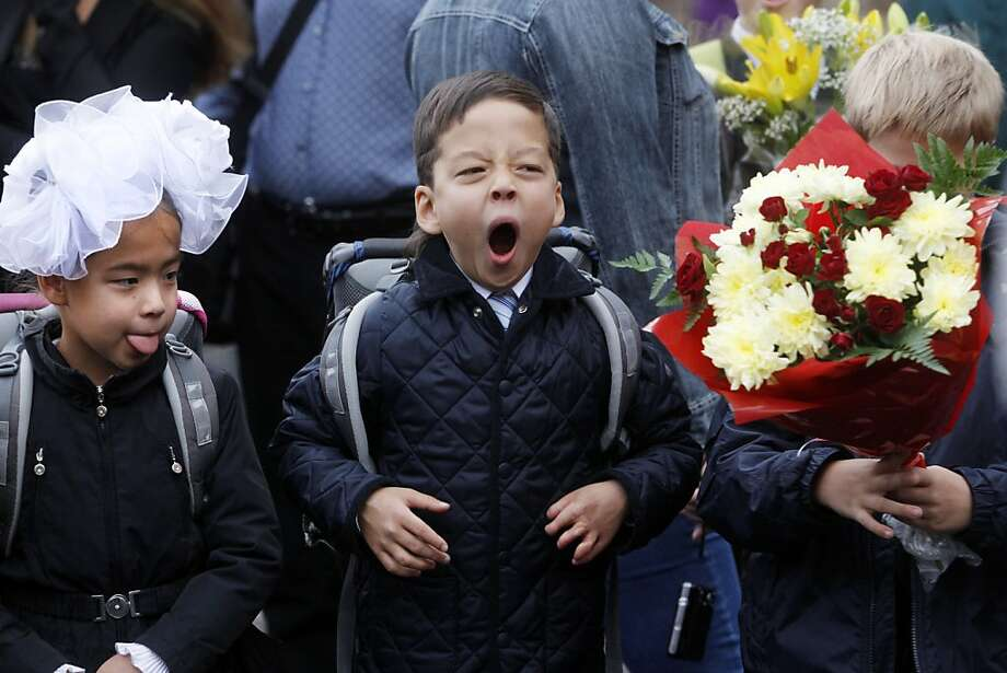 But more important, why is that other kid wearing a loofah?Not everyone is excited to be 