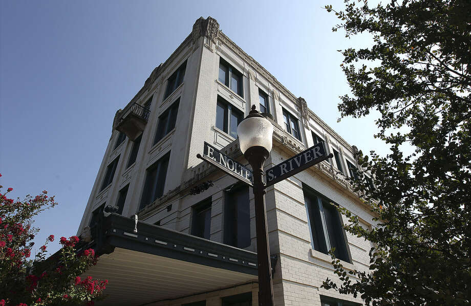 The former Park Hotel in Seguin, now The Park Plaza Building, opened in 1917 and was listed on the National Register of Historic Places in 1979. Photo: Kin Man Hui / San Antonio Express-News