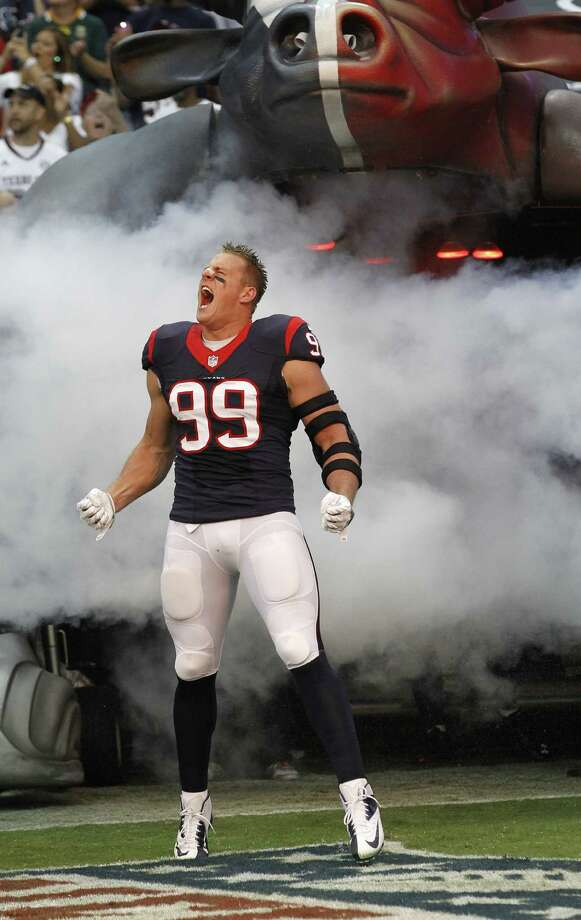 Texans defensive end J.J. Watt, the 2012 NFL Defensive Player of the Year, will try to make more noise this season. Photo: Chris Covatta / Associated Press