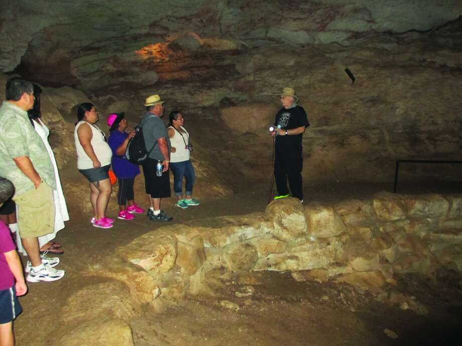 Tour guide Al Gerow stops to talk about a particular area of the Longhorn Cavern during a tour in August. Photo: Terry Scott Bertling, San Antonio Express-News