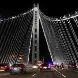 The new eastern span of the Bay Bridge opened shortly after 10 p.m., with many motorists honking in celebration.