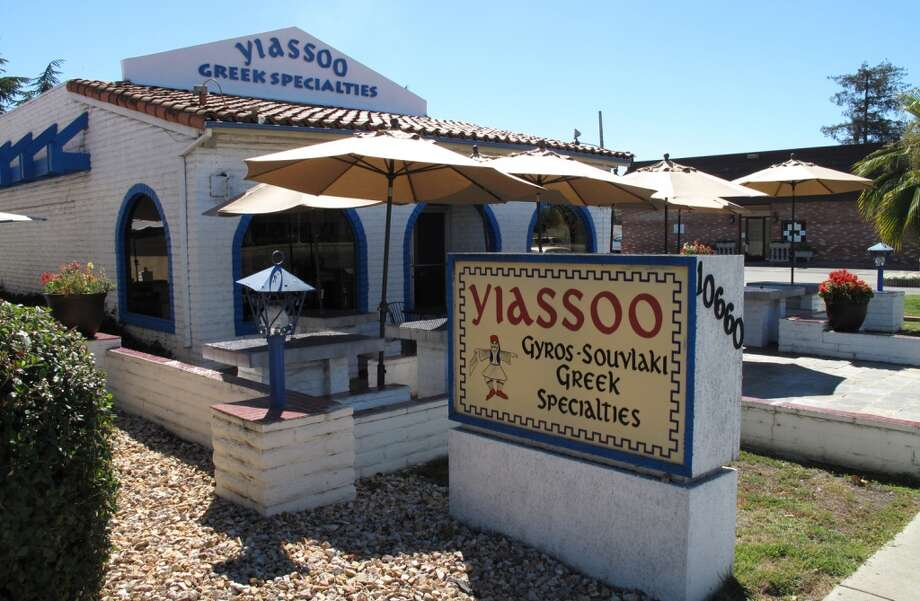 Yiassoo Greek Specialties in Cupertino. The cashier told me they've been here for about 20 years. I was handed an incredible pile of food for $11. Thanks to reader William Cockayne for the tip. Photo: Peter Hartlaub, The Chronicle
