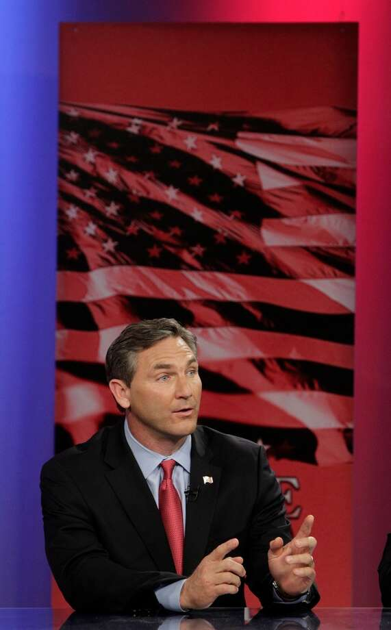 U.S. Senate candidate Craig James (R) participates in a live debate held in the LeRoy and Lucile Melcher Center for Public Broadcasting at the University of Houston on Thursday, May 3, 2012, in Houston. ( Mayra Beltran / Houston Chronicle ) Photo: Mayra Beltran, Houston Chronicle