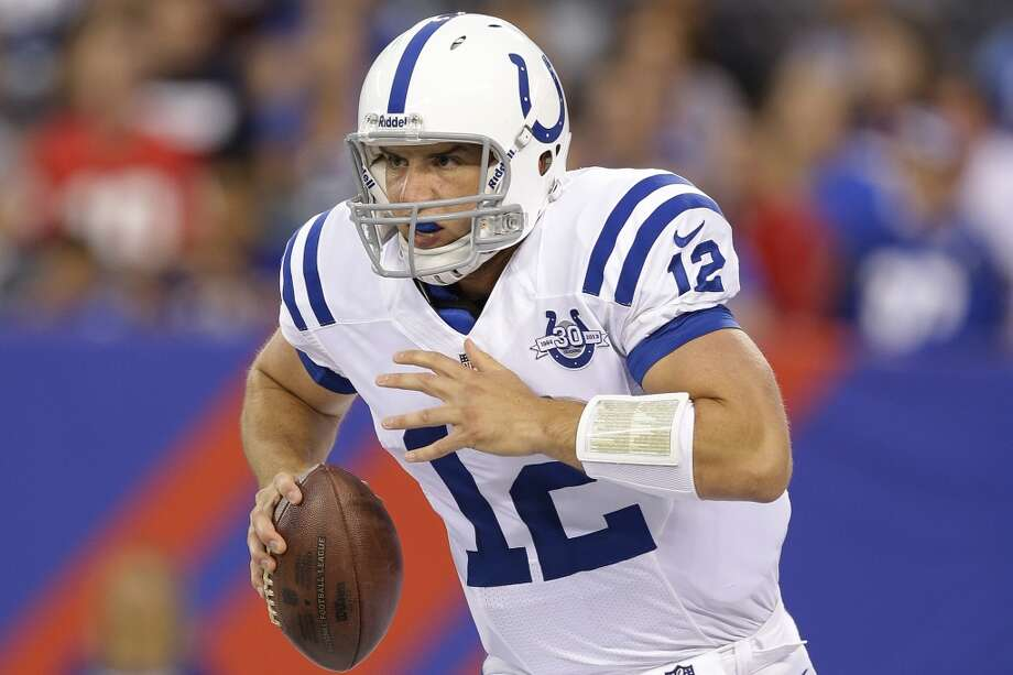 13. Colts (1-0)Last week: 15  Can quarterback Andrew Luck continue to rally the Colts to come-from-behind victories like the conquest of Oakland? Photo: Kathy Willens, Associated Press
