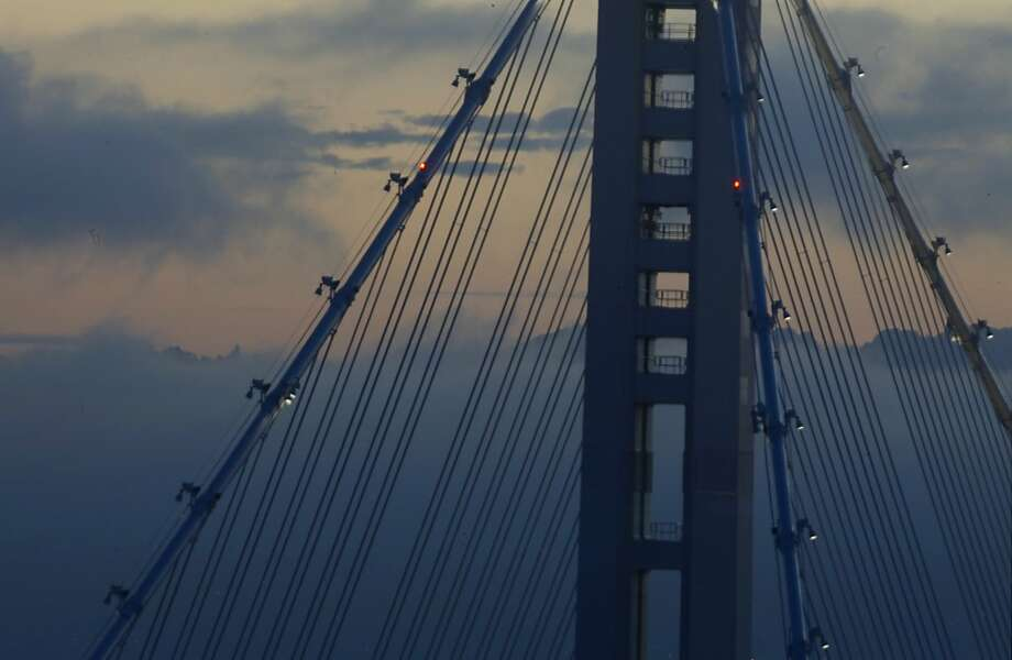 It took nearly 24 years to replace the eastern span of the Bay Bridge damaged by the Loma Prieta earthquake, and the project cost $6.4 billion, more than four times what was estimated in 1996. It opened in September. Photo: Lacy Atkins, The Chronicle