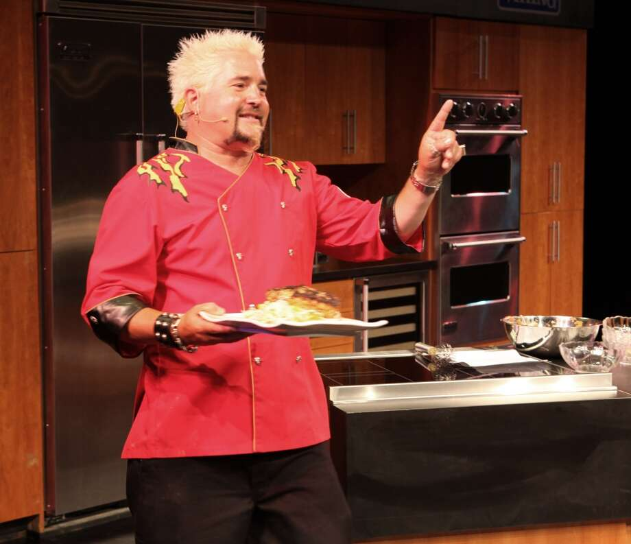 ATLANTIC CITY, NJ - JULY 31:  Celebrity Chef Guy Fieri does a cooking demo on stage in the Circus Maximus Theater during the 2010 Atlantic City Food And Wine Festival at Caesars Atlantic City on Saturday July 31, 2010 in Atlantic City, New Jersey.  (Photo by Tom Briglia/FilmMagic) Photo: FilmMagic