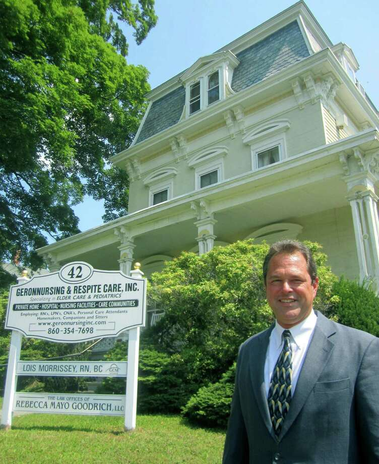 Michael Gold is owner of GeronNursing & Respite Care, based in New Milford, in a historic home at 42 Main Street, along the Village Green. Photo: Norm Cummings