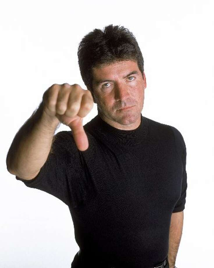 Simon Cowell, seasons 1-8. Photo: AP