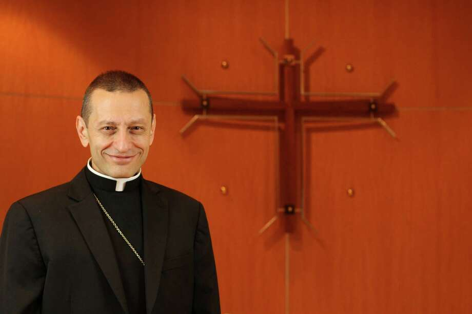 Auxiliary Bishop Frank J. Caggiano of the Roman Catholic Diocese of Brooklyn, poses at diocesan headquarters in Brooklyn, NY on Thursday Aug. 1, 2013. Bishop Caggiano will be installed as the bishop of the Diocese of Bridgeport, Conn., on Sept. 19, 2013. Photo: Gregory A. Shemitz / Connecticut Post FreelanceGregory A. Shemitz